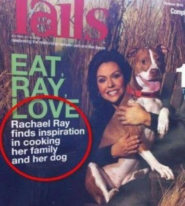 A picture of a cover caption lacking commas.