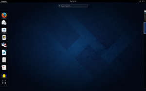 GNOME Shell on Fedora 20.
