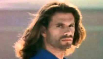 Lorenzo Lamas and his long hair.