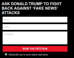 Infowars Petition Signup