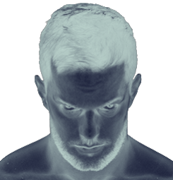 Finn balor with inverted grays calendar colors.