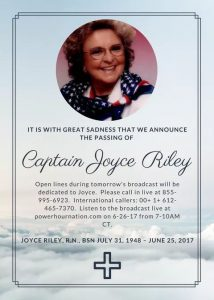 Joyce Riley Passed Away Today